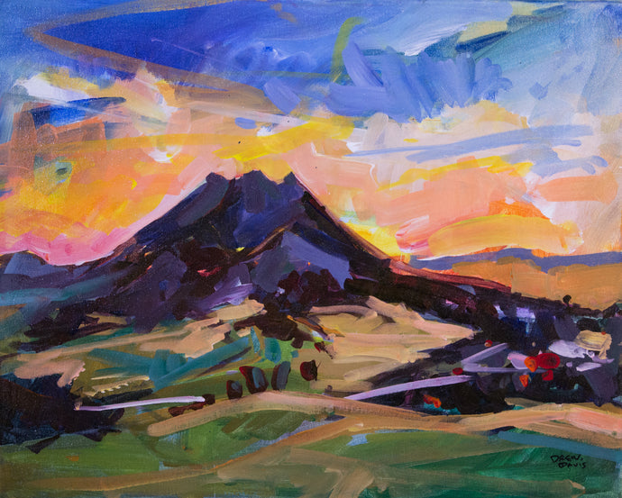BISHOPS PEAK | 16x20 | Original Acrylic Study on Canvas