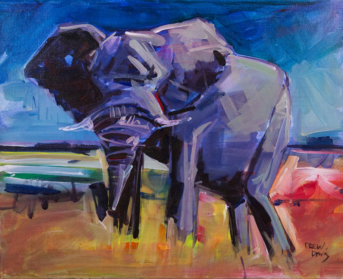 ELEPHANT | 16x20 | Original Acrylic Study on Canvas
