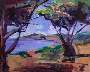 SAN SIMEON COAST 2 | 16x20 | Original Acrylic Study on Canvas