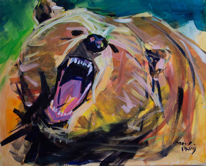 Brown Bear | 16x20 | Original Acrylic Study on Canvas