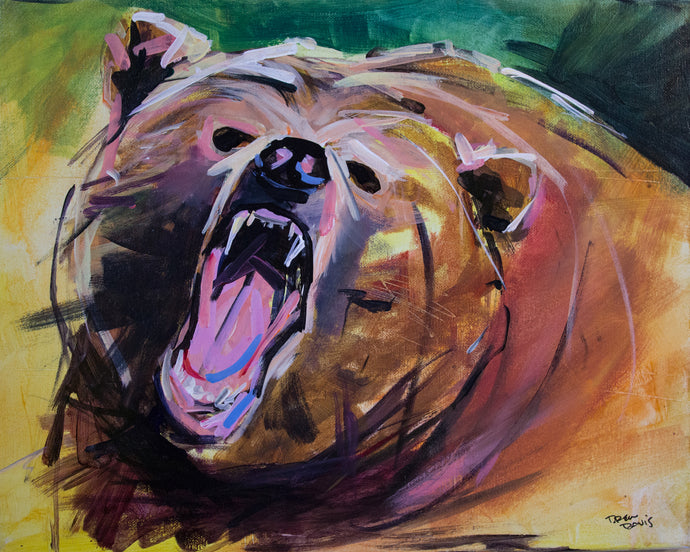 Brown Bear 2 | 16x20 | Original Acrylic Study on Canvas