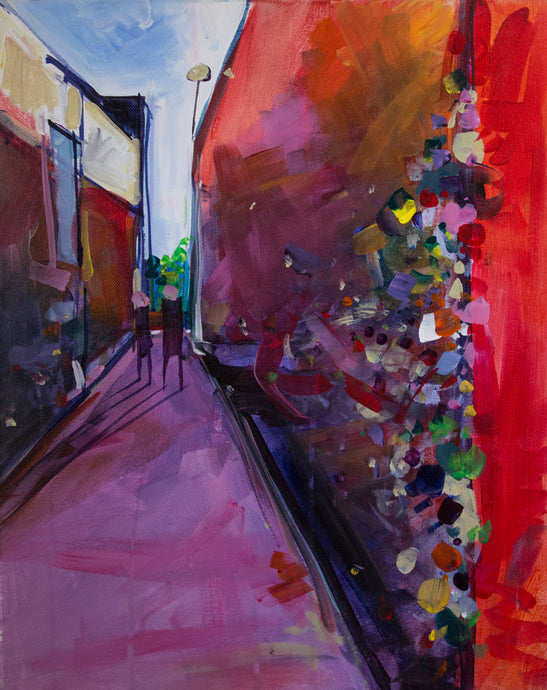BUBBLEGUM ALLEY - SLO 2 | 16x20 | Original Acrylic Study on Canvas