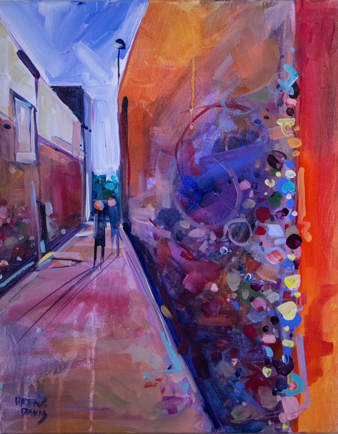 BUBBLEGUM ALLEY - SLO 3 | 16x20 | Original Acrylic Study on Canvas