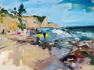 Beachcomber Drive - Shell Beach | 9x12 | Original Oil on Wood Panel