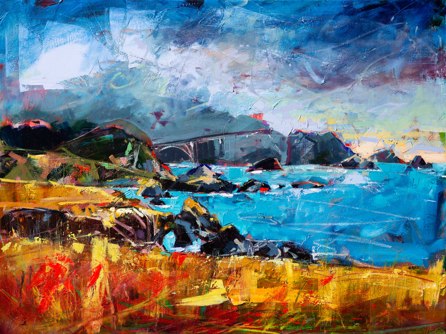 Big Sur Coast View | 30x40 | Original Oil on Canvas