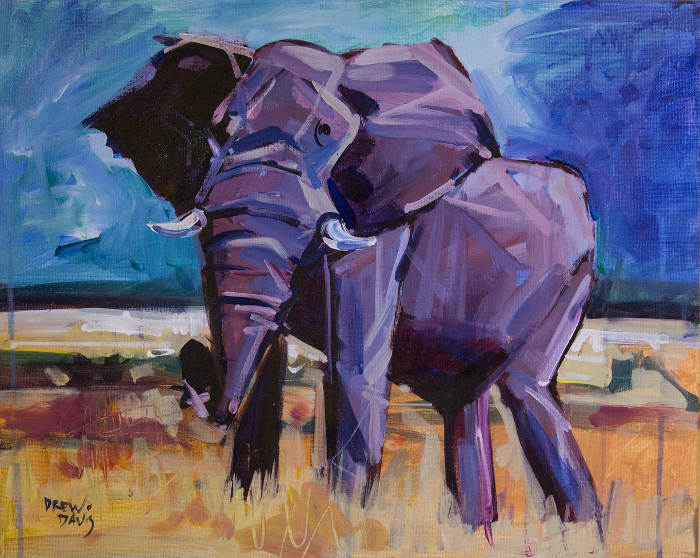 ELEPHANT 2 | 16x20 | Original Acrylic Study on Canvas