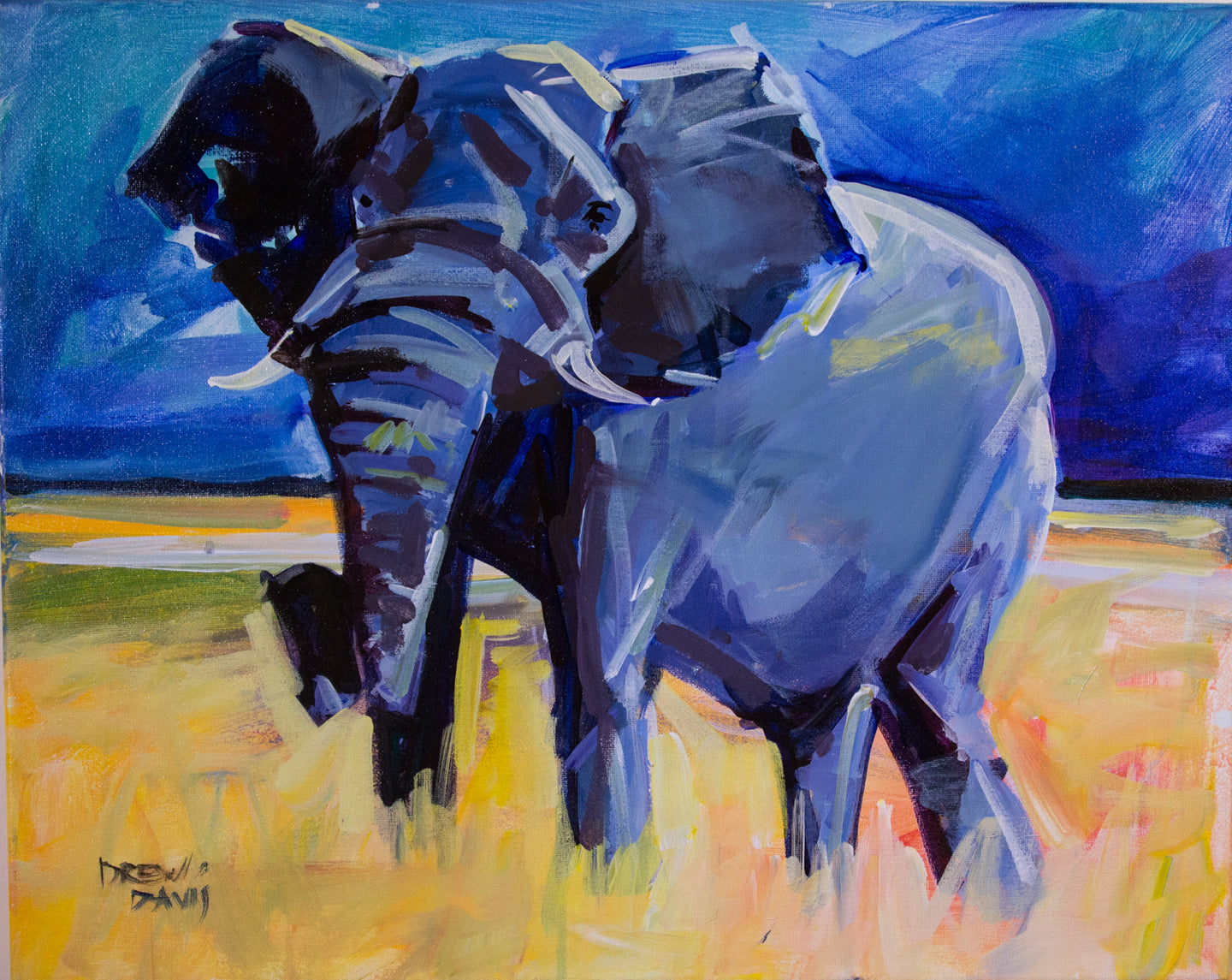 ELEPHANT 3 | 16x20 | Original Acrylic Study on Canvas