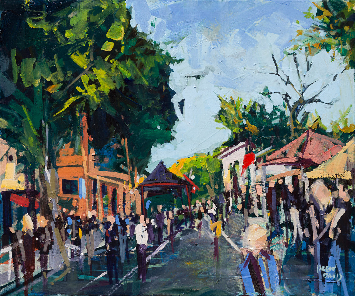 SLO Summer Farmers Market | 20x20 | SOLD - PRINTS AVAILABLE