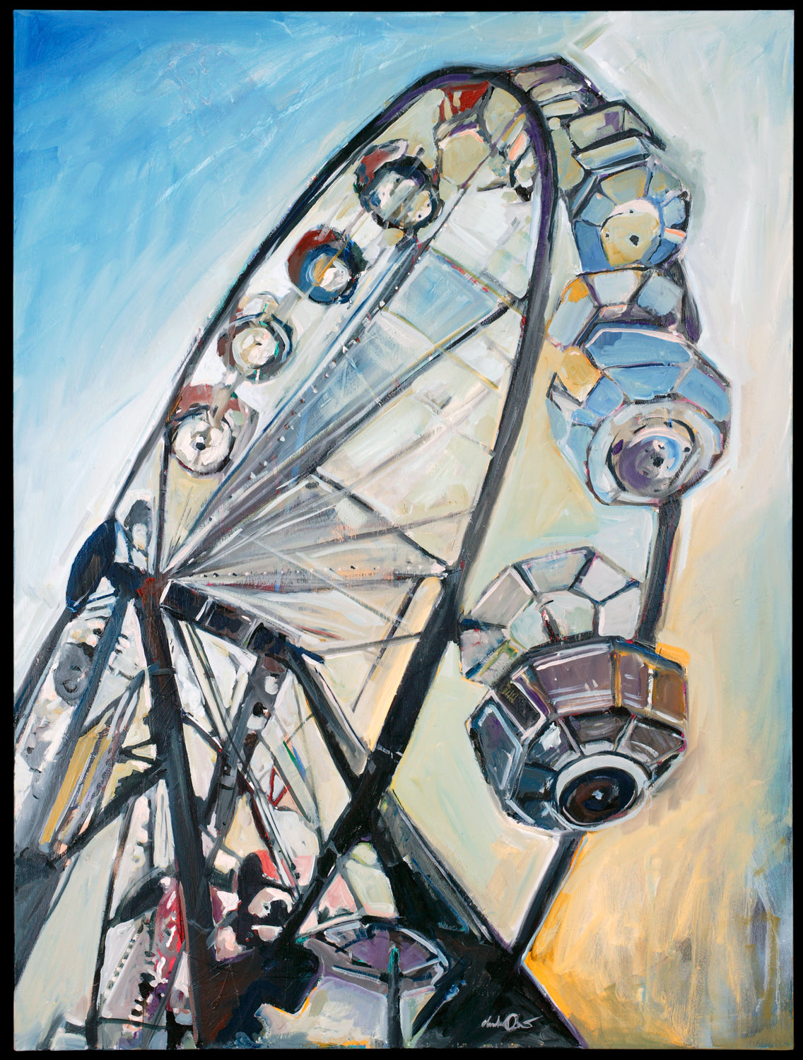 Ferris Wheel  | 36x48 | SOLD - PRINTS AVAILABLE