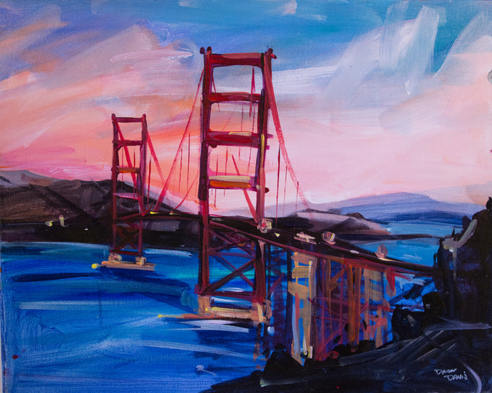 GOLDEN GATE 1 | 16x20 | Original Acrylic Study on Canvas