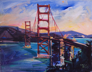 GOLDEN GATE 2 | 16x20 | Original Acrylic Study on Canvas