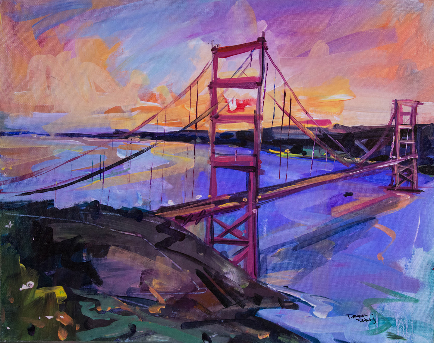 GOLDEN GATE 3 | 16x20 | Original Acrylic Study on Canvas