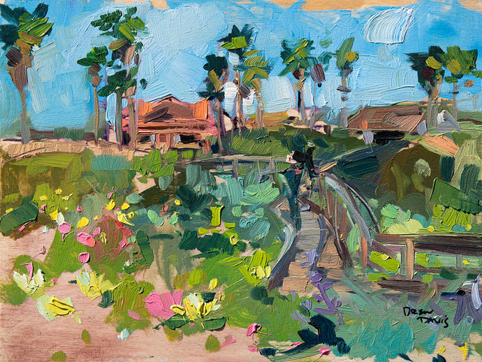 Grover Beach Boardwalk | 9x12 | Original Oil on Wood Panel