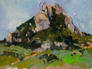 Hollister Peak - San Luis Obispo | 9x12 | Original Oil on Wood Panel
