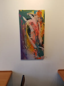 Candlestick  | 18x36 | Original Acrylic on Canvas