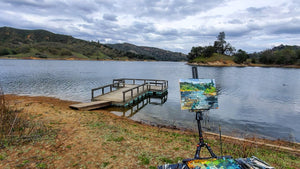 Santa Margarita Lake | 11x14 | Original Oil on Wood Panel