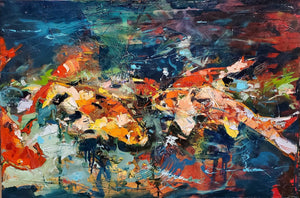Being Koi | 24x36 | Original Oil on Canvas