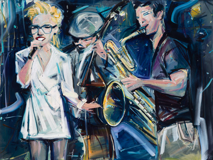 Jazz Band | 36x48 | SOLD - PRINTS AVAILABLE