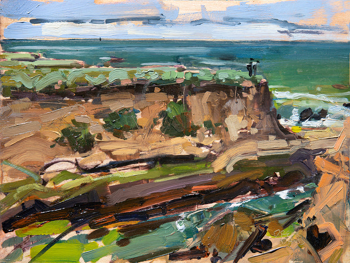 Montana De Oro Bluffs | 9x12 | Original Oil on Wood Panel