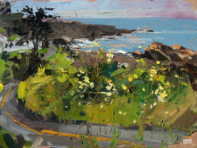 Spooners Cove View | 9x12 | Original Oil on Wood Panel