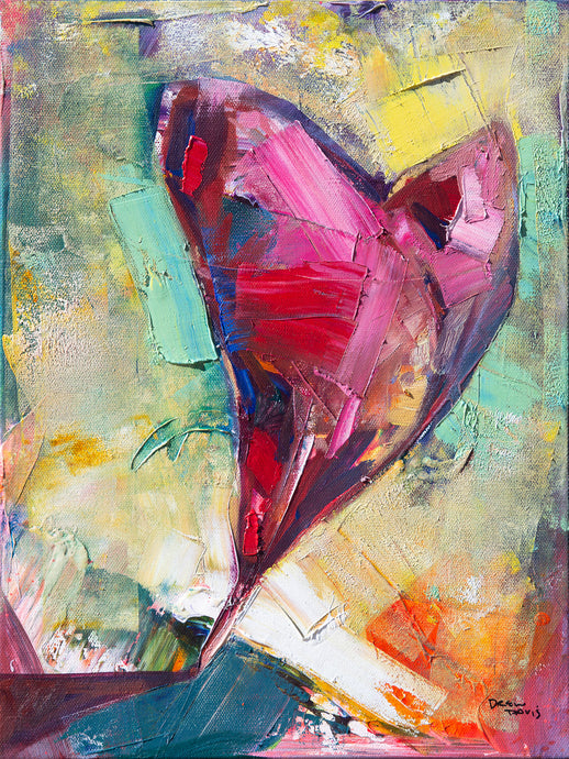 PAPER HEART 2 | 12x16 | OIL ON CANVAS