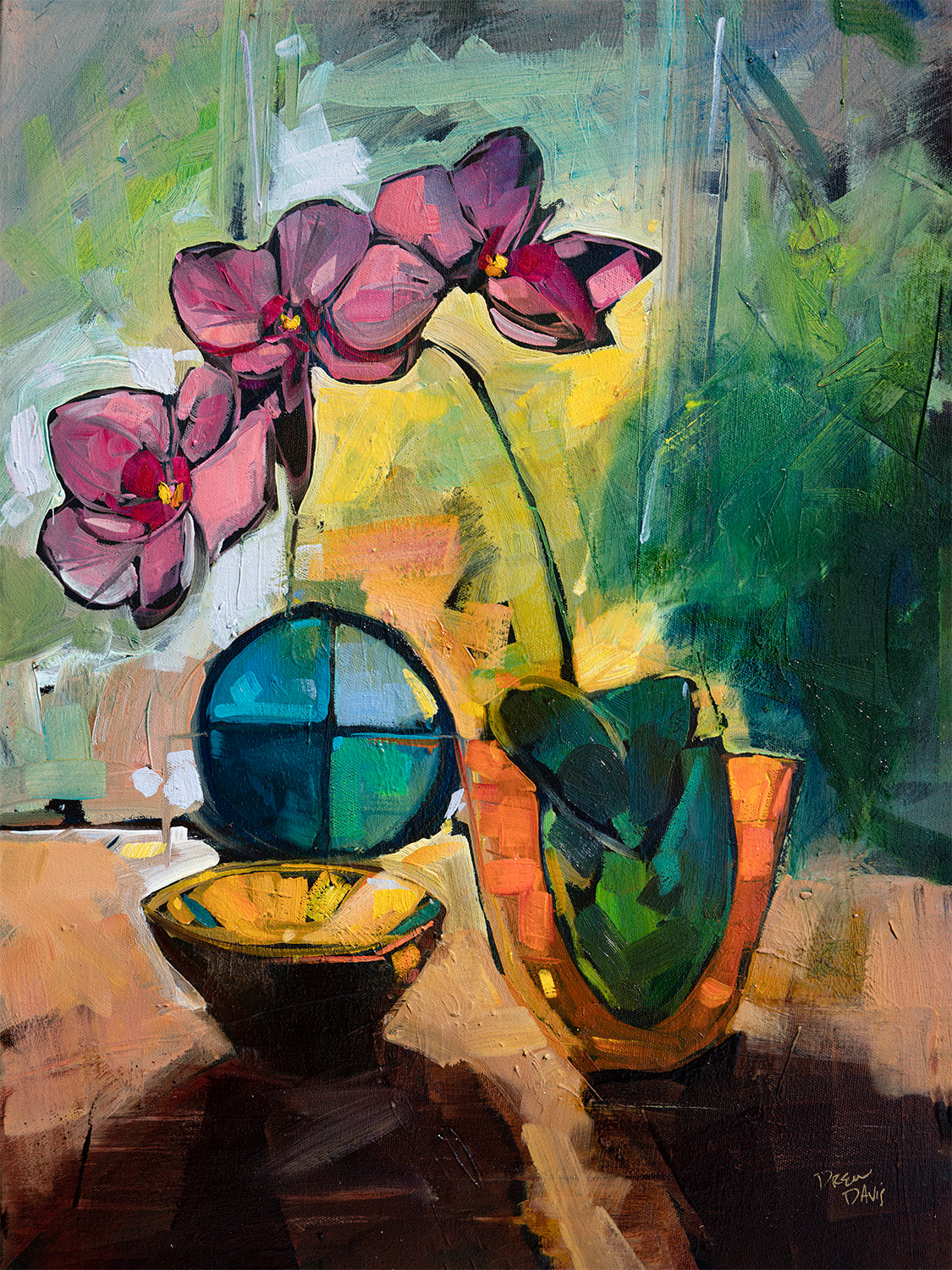 Pink Orchids | 18x24 | Original Oil on Canvas