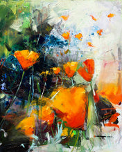 Poppies and Lilac | 30x48 | Original Oil on Canvas - Diptych