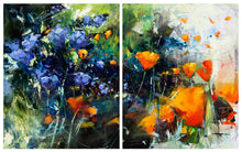 Poppies and Lilac - Diptych