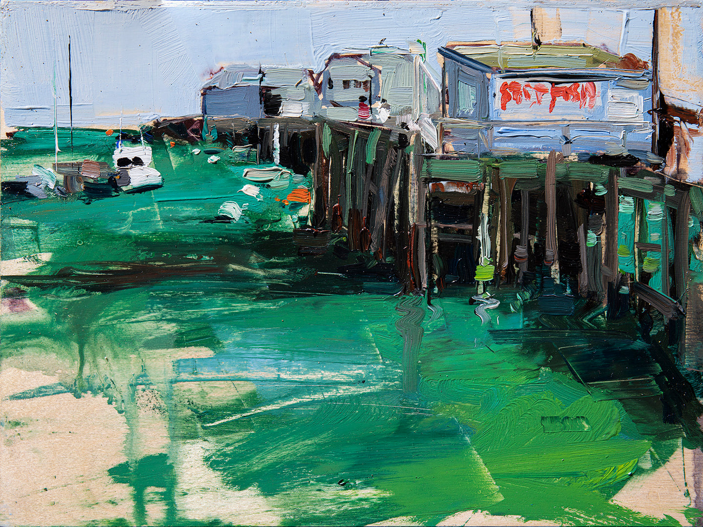 Port San Luis Pier | 9x12 | Original Oil on Wood Panel
