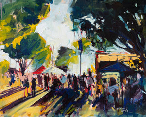 SLO Farmers Market | 16x20 | Original Oil on Canvas