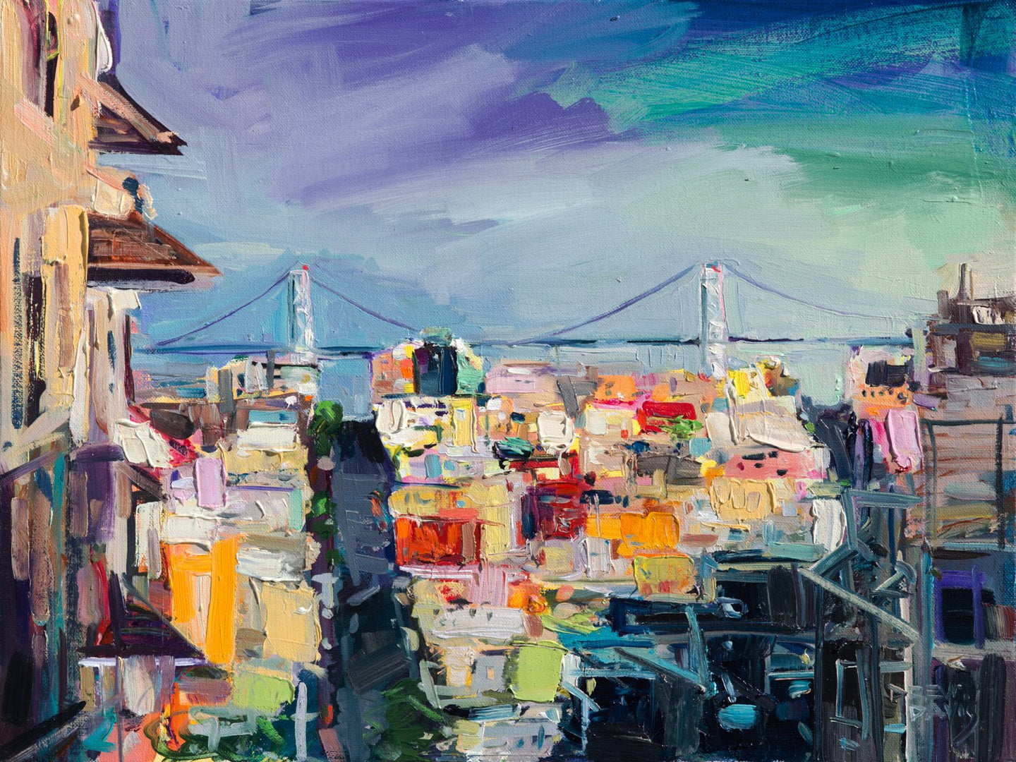 Streets of San Fran 2 | 18x24 | Original Oil on Canvas