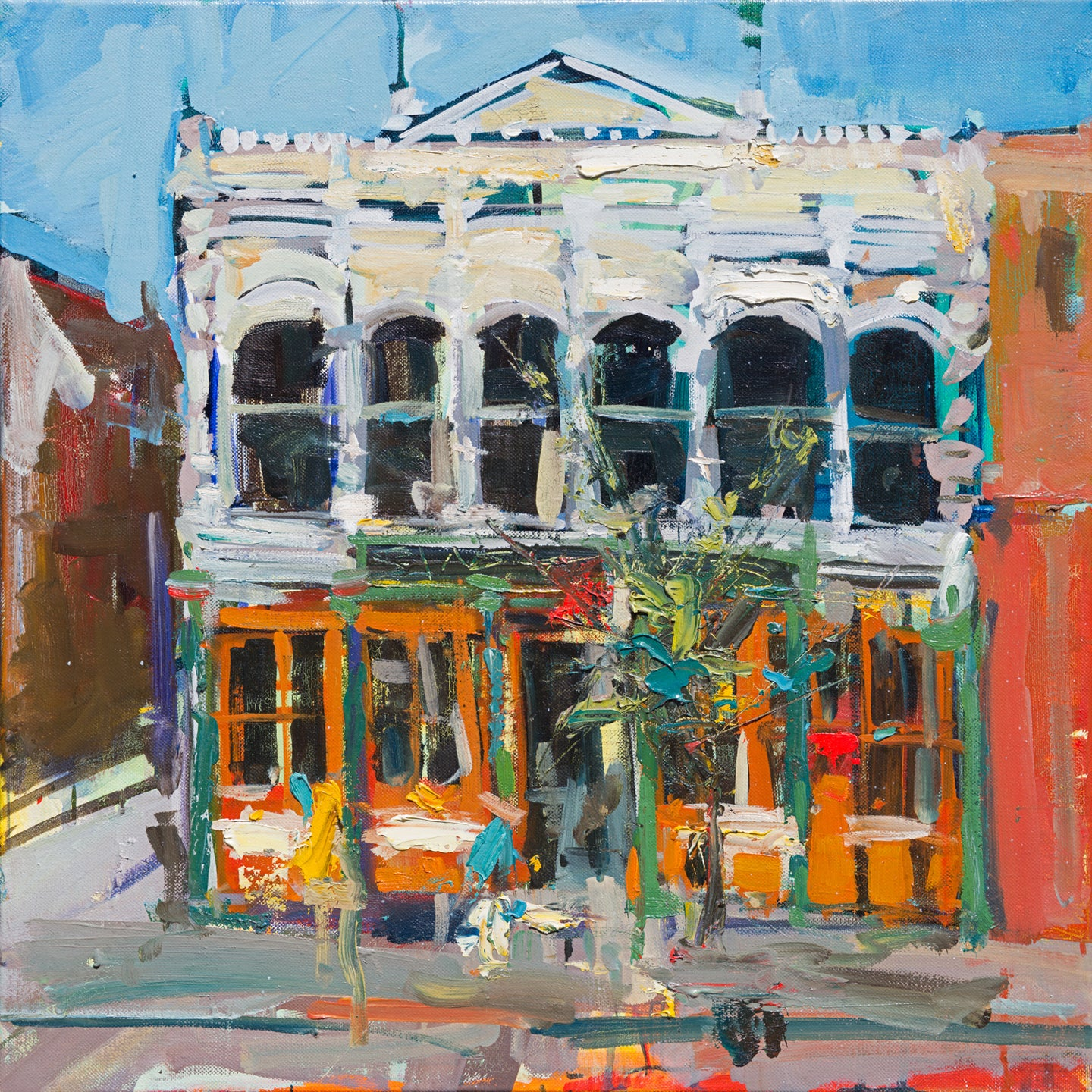 Sinsheimer Building | 20x20 | Original Oil on Canvas