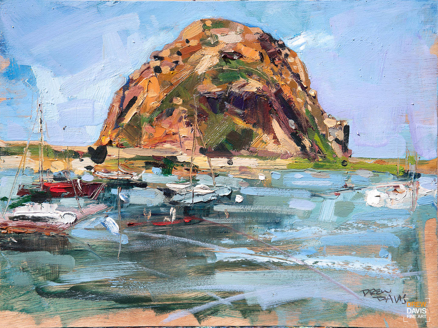 Springtime at the Rock | 9x12 | Original Oil on Wood Panel