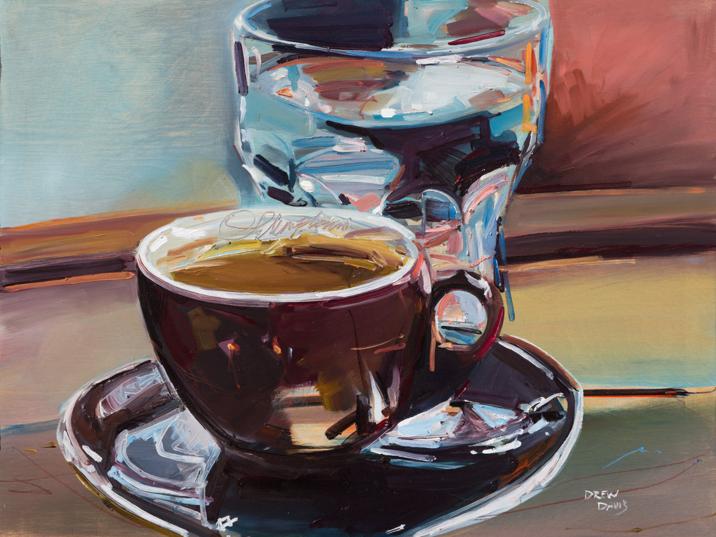 Stumptown Espresso  | 18x24 | Original Oil On Wood Panel