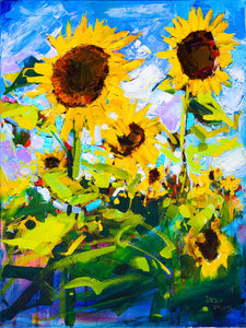 Sunflower Field | 18x24 | Original Oil on Canvas