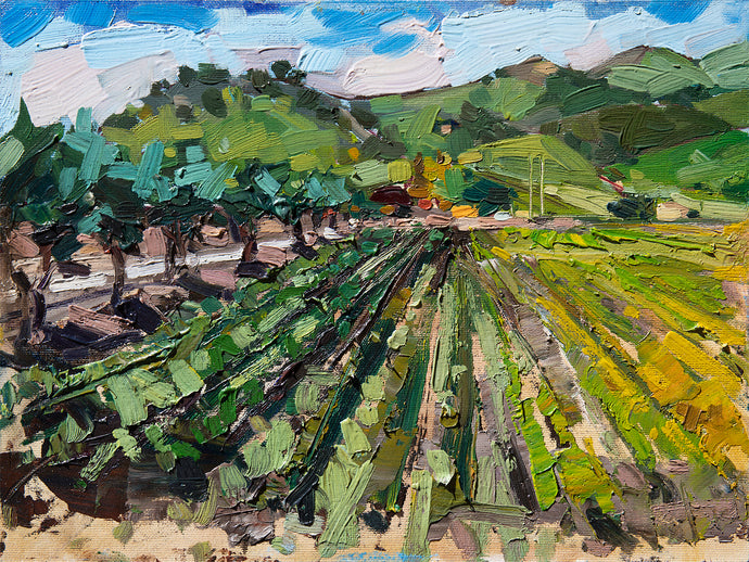 Talley Farms | 9x12 | Original Oil on Wood Panel