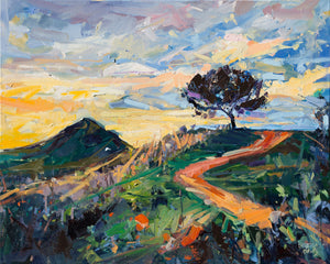 Terrace Hill Sunset Stroll | 24x30 | Original Oil on Canvas