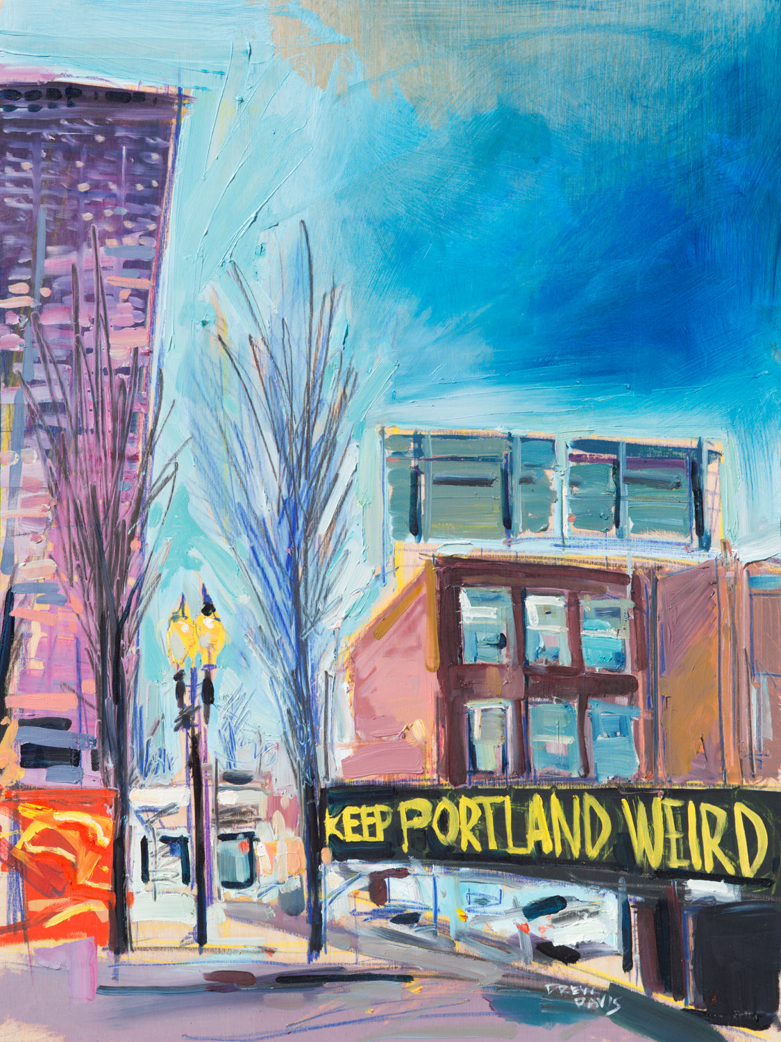 Keep Portland Weird | 18x24 | Original Oil on Canvas