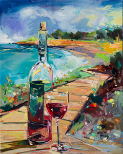 Wine on the Boardwalk | 16x20 | Original Oil on Canvas