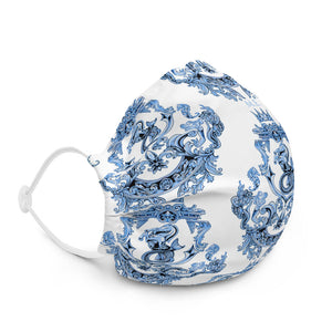 Blue Baroque Premium face mask