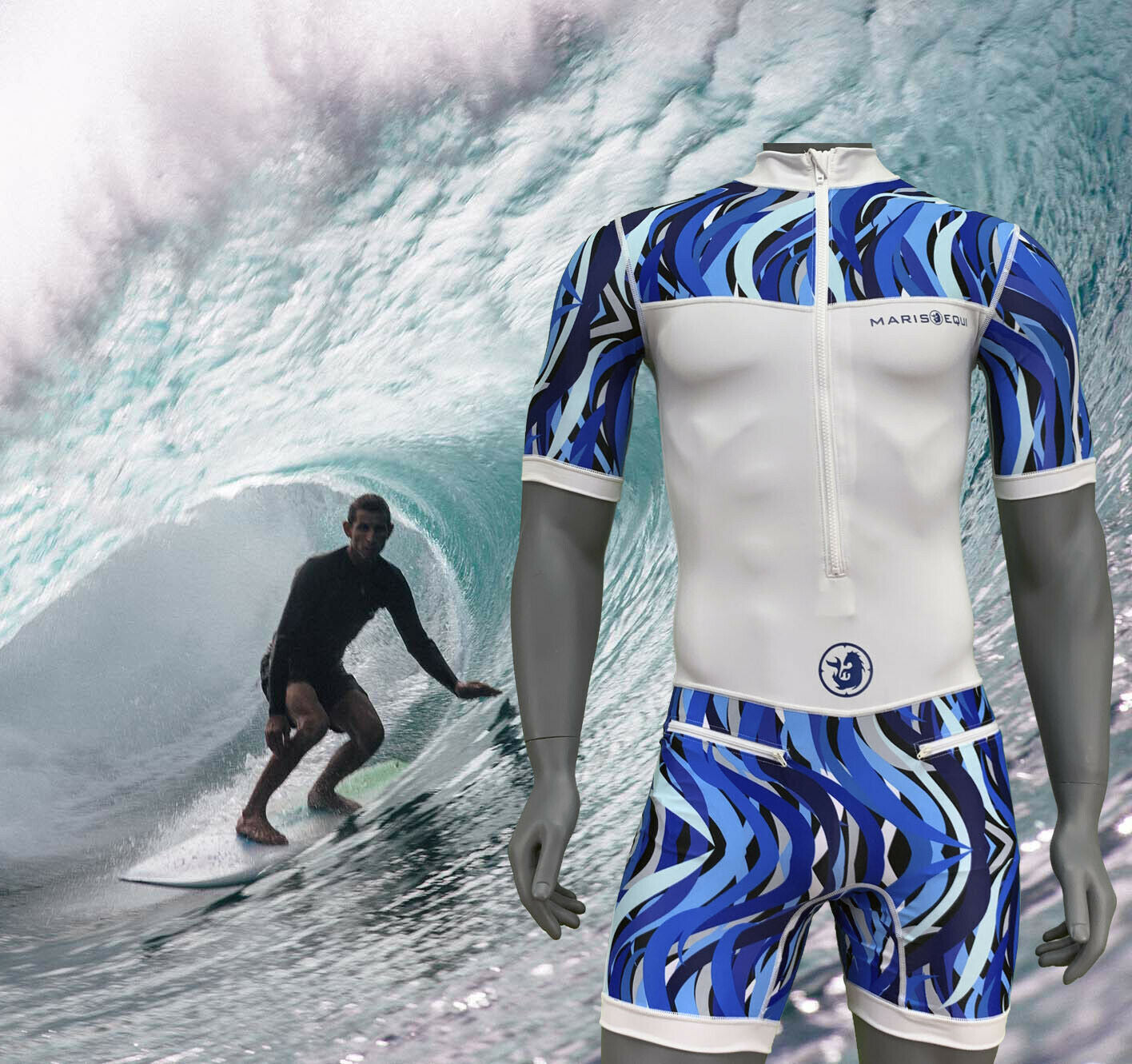 One Piece Surfing Rashguard / Swimsuit / Wetsuit