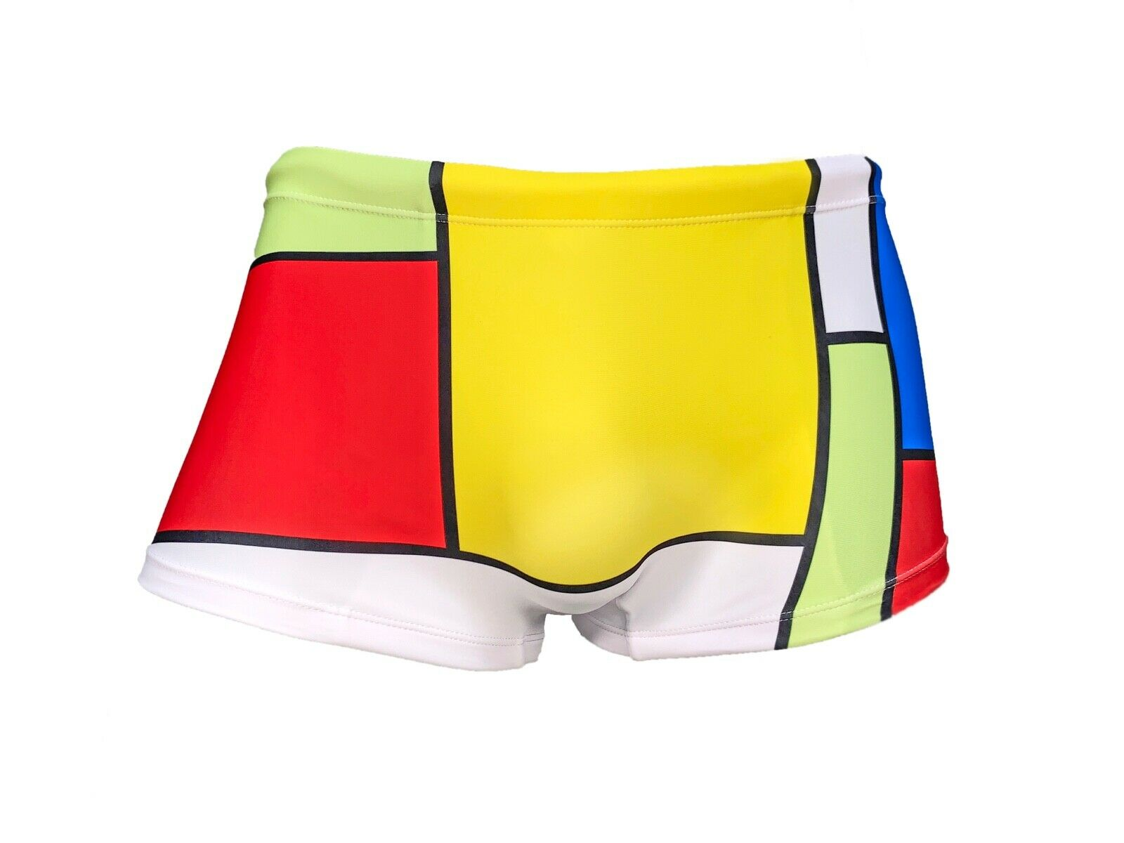 Mens ModRian Square Cut Swimsuit