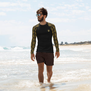 Men's Gold Baroque Rash Guard