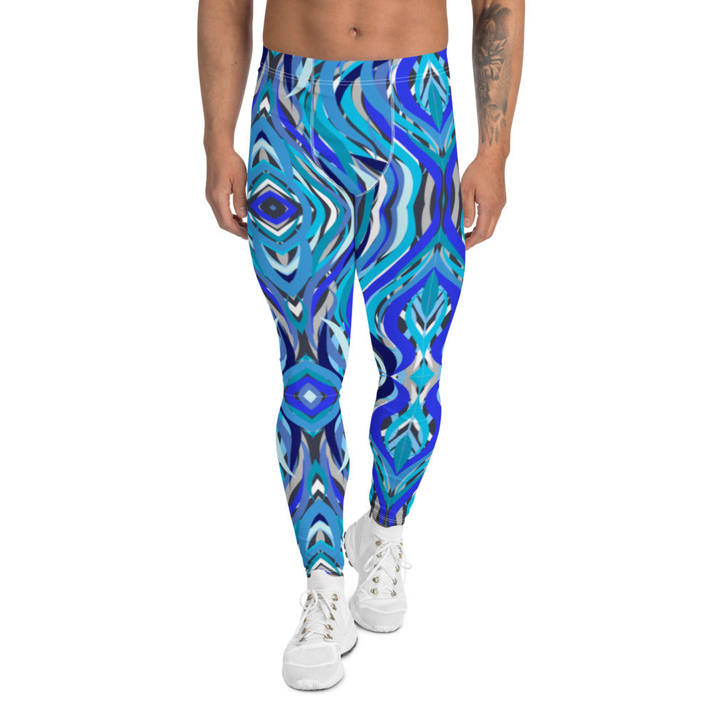 Ribbons of Blue Men's Leggings