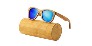 AN SWALLOW  Zebra Wood Sunglasses