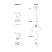 Ferm Living - Ferm Living - Collect Socket Shade - Kap voor Socket lamp Lampen - Houtmerk