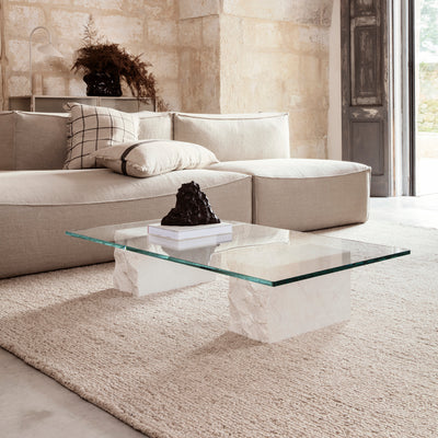 Ferm Living - Mineral Coffee Table - Salontafel marmer + glas