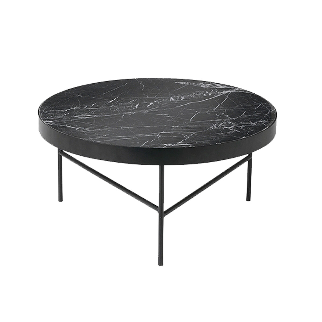 Salontafel Rond Marmer Blad.Ferm Living Marble Table Salontafel Of Bijzettafel