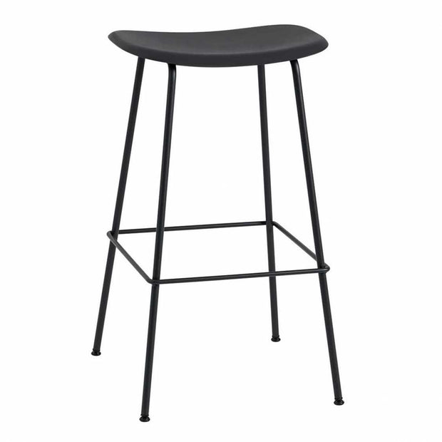 Kruk Muuto Fiber Bar Stool, gestoffeerd Canvas 174 Zwart SALE
