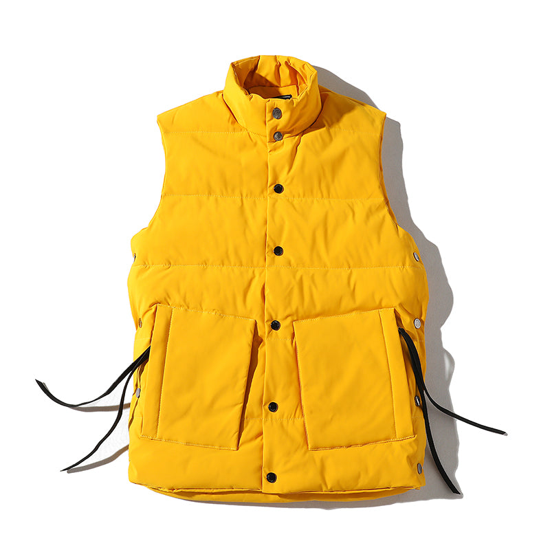 50% price details for factory price Mens Puffer Vest Yellow